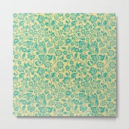 Flora Pattern Twelve Metal Print