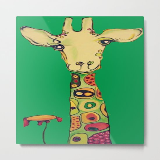 Kallie's Giraffe Metal Print