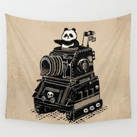 panda Wall Tapestries featuring Panda by Ronan Lynam