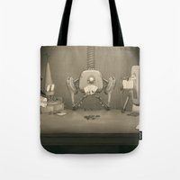 poker Tote Bags featuring Bot Poker by Samize