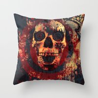ed sheeran Throw Pillows featuring Happy Ed by Sirenphotos