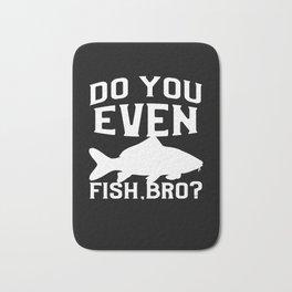 Funny Common Carp Fishing Freshwater Fish Gift Bath Mat