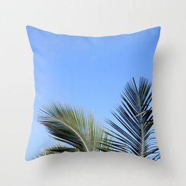 Palm Tree Sky Throw Pillow
