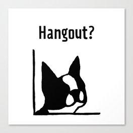 &dog Hangout? Canvas Print