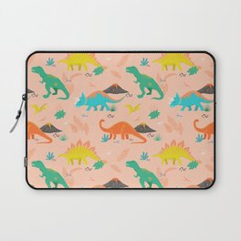 Jurassic Dinosaurs on Peach Laptop Sleeve