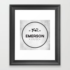 Emerson Park Framed Art Print