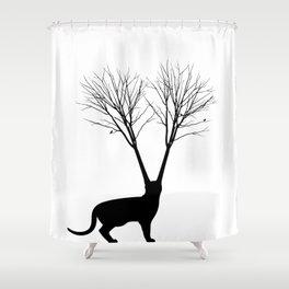 Cat Tree Shower Curtain