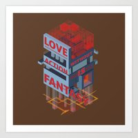Love without Action Is Fantasy Art Print