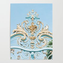 Royal Blue Gate in Paris, France Poster