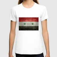 arab T-shirts featuring National flag of Syria - vintage version (may PEACE prevail) by Bruce Stanfield