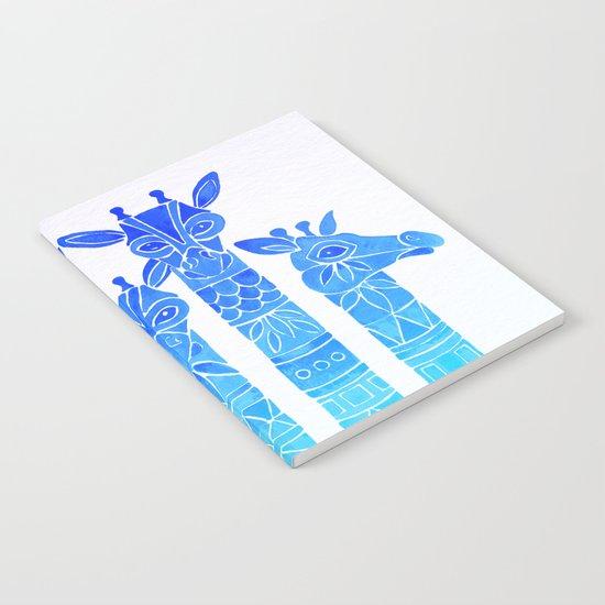 Giraffes – Blue Ombré Notebook