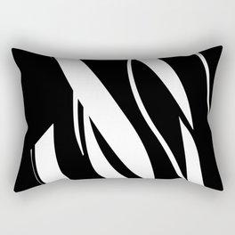 Organic No. 17 Black & White Graphic Art #minimalism #decor #society6 Rectangular Pillow