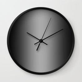 Black to White Vertical Bilinear Gradient Wall Clock