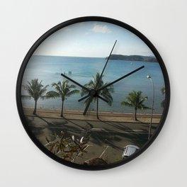 A beach in Noumea Wall Clock