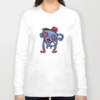 fez Long Sleeve T-shirts featuring Zombie Monkey by John Schwegel