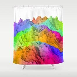 Holopunk Mountains Shower Curtain