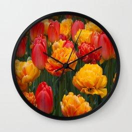 Scrumptious Tulips Wall Clock
