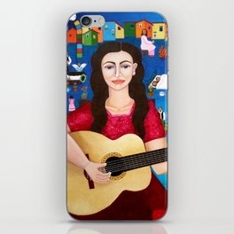 """Violeta Parra and the song """"Black wedding II"""" iPhone Skin"""