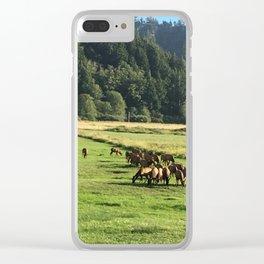 Elk Herd in Oregon Clear iPhone Case