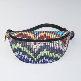 Bargello waves - peace, love and rainbows Fanny Pack