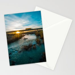 Yellow Truck in Sunset Stationery Cards