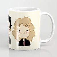 potter Mugs featuring Happy Potter by Keasy