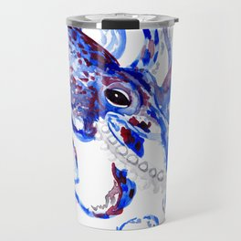 Blue Purple Octopus Travel Mug