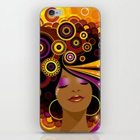 70s iPhone & iPod Skins featuring 70s Funk by Julia Barber
