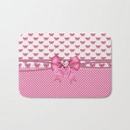 Dreamy Pink Butterflies Bath Mat