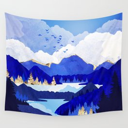 Blue Lake Wall Tapestry