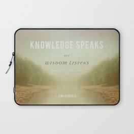 Knowledge Speaks Laptop Sleeve