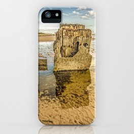Groynes on Seamill Beach iPhone Case