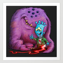 A boy and his Grogg Art Print