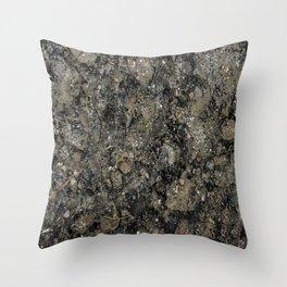 Grunge Organic Texture Print Throw Pillow