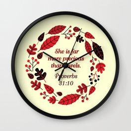 PROVERBS 31:10 Wall Clock