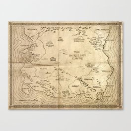 Map of Imirillia Canvas Print
