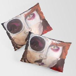 Four Faces of Johnny Depp Pillow Sham