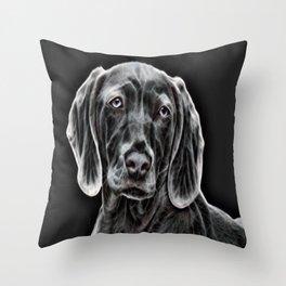 Weimaraner - The Gray Ghost Throw Pillow