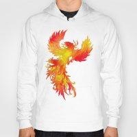 phoenix Hoodies featuring Phoenix by Paula Belle Flores