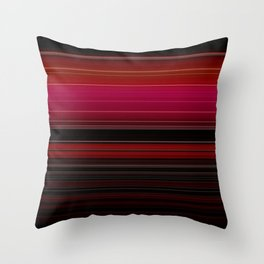 Vibrant Red Ombre Stripe Pattern Throw Pillow