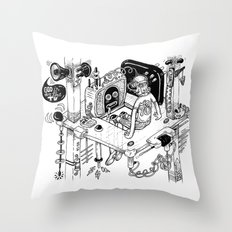 God is on the TV Throw Pillow