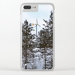 Windmill Through the Trees Clear iPhone Case