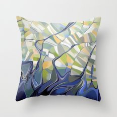 The earth seen from the space Throw Pillow