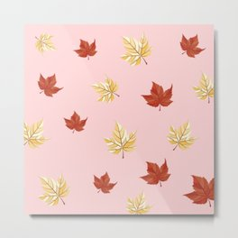 Autumn leaf pattern Metal Print