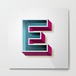The Letter E Metal Print
