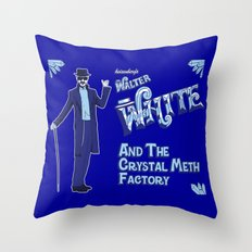Walter White and the Crystal Meth Factory Throw Pillow