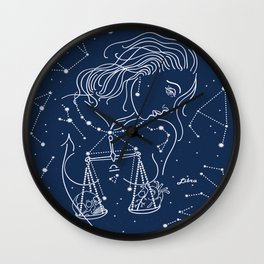 Libra zodiac sign Wall Clock