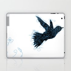 Bird Fly No. 1 (Black/Aqua) Laptop & iPad Skin