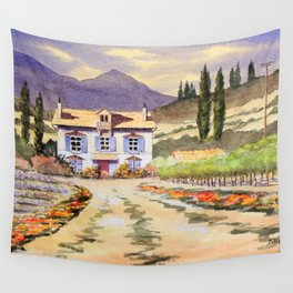 Provence France Lavender And Vines Wall Tapestry