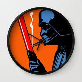 Vader Chillin (orange) Wall Clock